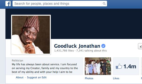 Do you think that President Goodluck Jonathan personally post updates to his Facebook Page?