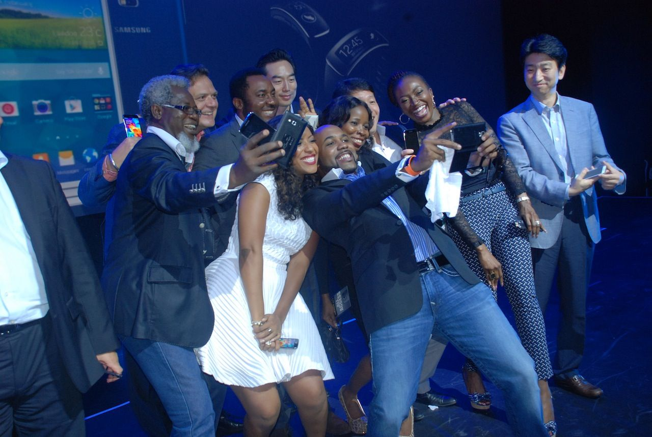 Banky W and Co at Samsung Galaxy S5 Lagos launch