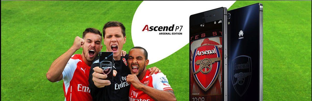 Huawei kicks off Arsenal edition smartphone