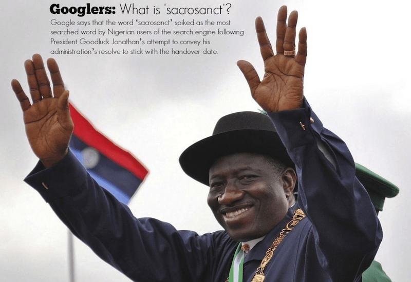 Google: How President Jonathan's 'sacrosanct' promise sent Nigerians searching