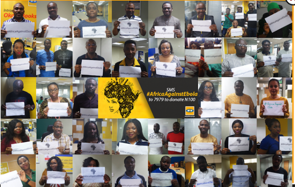 Standing up against Ebola: MTN Nigeria employees supporting campaign to eradicate the deadly Ebola virus across Africa
