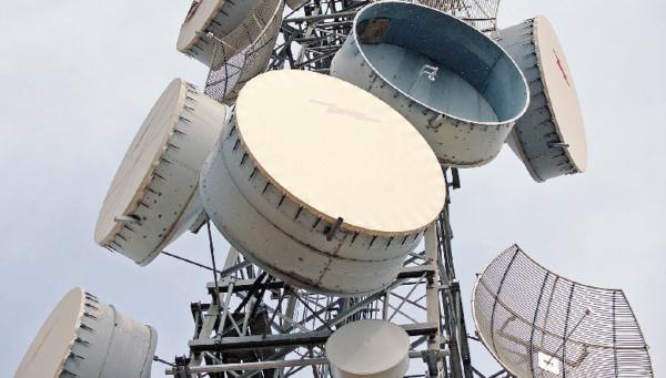 A telecoms mast