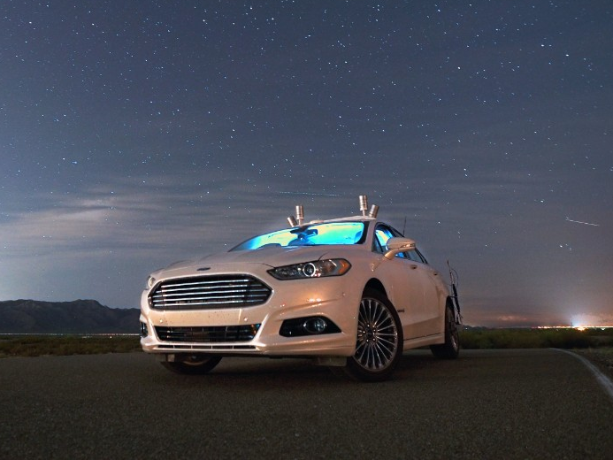 With sensor, Ford Fusion can navigates at night with headlights off