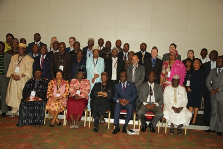 Attendees in group photo at the Digital Broadcasting Africa Forum 2016 in Lagos