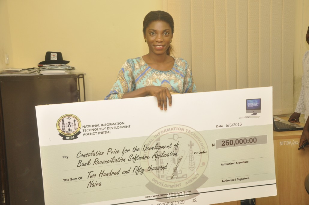 Youth Corper gets NITDA cash prize for developing software