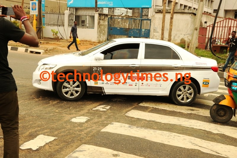 Pictured: TechPlus 2016 'Driverless car' cruises round Lagos City