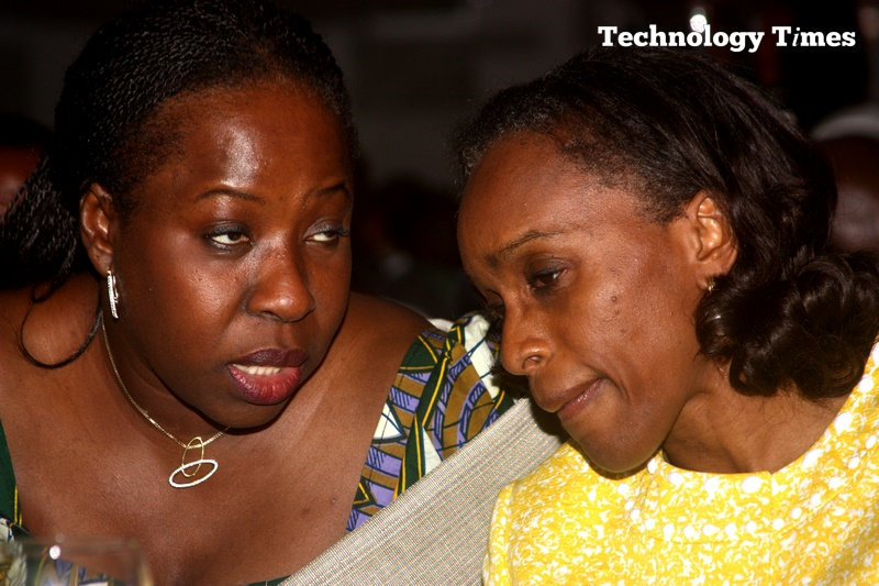 Funke Opeke, CEO of MainOne (left) and Dr Omobola Johnson, former Minister of Communication Technology for Nigeria