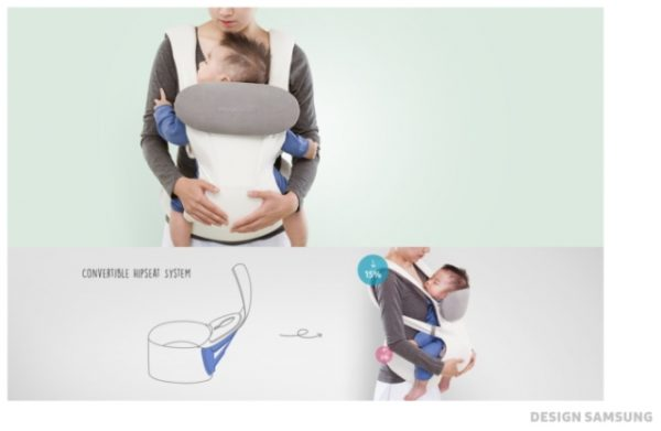 Want to monitor your baby's health? Samsung Smart Baby Carrier kicks in