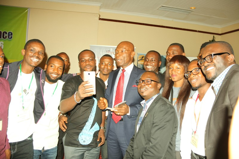 Chief Leo Stan Ekeh, Chairman, Zinox Technologies with some participants seen in group photo at the West African Convergence Conference 2016 (WACC 2016) held in Lagos by KnowHow Media Limited