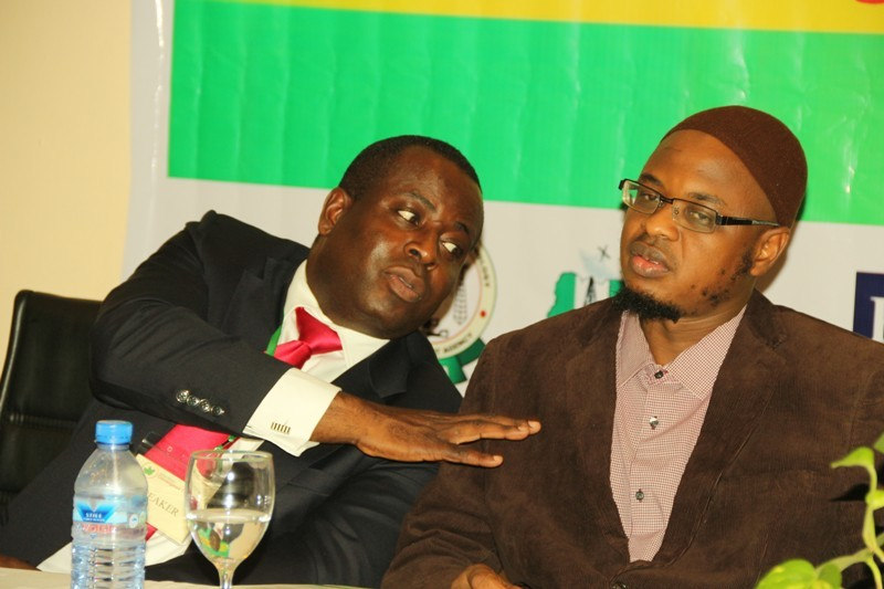 Mr. Olusola Teniola, Association of Telecommunications Companies of Nigeria (ATCON) (left) and Dr. Isa Ali Pantami, the new Director-General of National Information Technology Development Agency (NITDA) at the at the West Africa Convergence Conference (WACC 2016) held at Sheraton Hotel and Towers, Lagos.