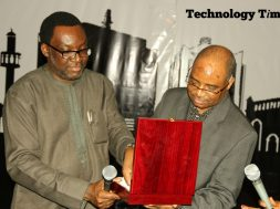 The winner was announced at the Technology Times Outlook 17, #TTOutlook17, in Lagos when Engineer Aliyu Aziz, the Director General/CEO of National Identity Management Commission (NIMC) and Mr Steve Ayorinde, Commissioner for Information and Strategy, Lagos State, jointly unveiled the plaque at a cocktail wrapping up the two-day annual summit held at The MUSON Centre in Lagos.
