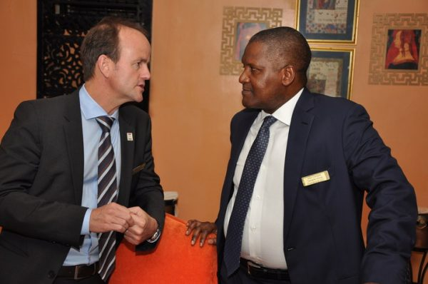 Craig Arnold of The Dow Chemical Company and Alhaji Aliko Dangote of Dangote Group