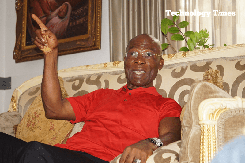 We have to look at India: LeoStan Ekeh, Chairman of Zinox Group, seen during interview with Technology Times. Photo by Kehinde Sonola/Technology Times