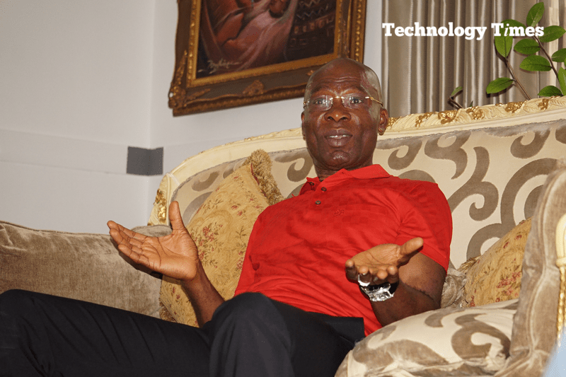 My son owns Yudala. People have to be fair to him: LeoStan Ekeh, Chairman of Zinox Group, seen during interview with Technology Times. Photo by Kehinde Sonola/Technology Times