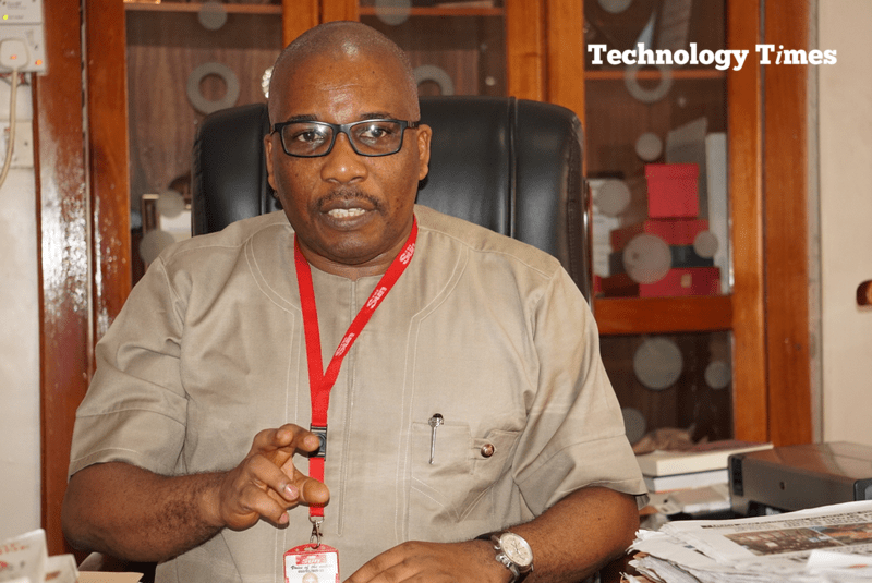 Industry under siege: Mr Eric Osagie, Managing Director/Editor-in-Chief of The Sun Newspapers seen in photo in interview with Technology Times says traditional media companies are battling plagiarism by online media actors and calls on stakeholders to tweak the regulations to monitor ethics and professional conducts. Photo by Technology Times