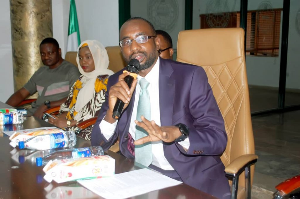 Mr. Kashif Inuwa, Director General / CEO of NITDA of National Information Technology Development Agency (NITDA) speaking at the formal launching of the tech programme last week in Abuja.